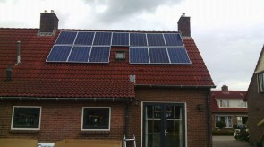 13 zonnepanelen te Nieuw Amsterdam