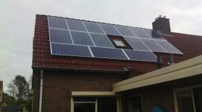 16 zonnepanelen te Nieuw Amsterdam